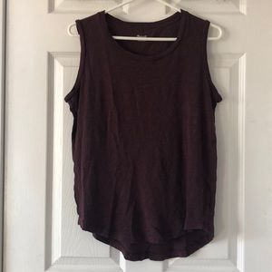 Madewell | Plum Muscle Tank Top